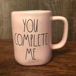 Rae Dunn Pink You Complete Me Mug